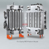 Hot Runner Pet Preform Injection Mould 72 Cavity for Water