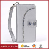 Quality Bling Shining Wallet Leather Case with Fancy Decoration