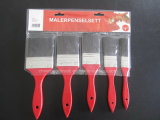 Red Wood Handle Paint Brush Set Packing