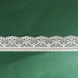 off-White Crochet Stretch Trimming Lace Textile Fabric Lace