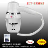 High Quality Hotel Appliance, Wall Mounted Hair Dryer 2200W Professional Electrical Appliance