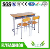 Popular Simple Classroom Furniture Student Double Desk for Studying (SF-30D)