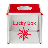 Clear Acrylic Gift Shop Bins Portable Lottery Box Large Size B8078
