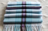 Cashmere Woolen Scarf with Checks