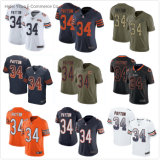 Chicago Wholesale 34 Payton Knitted Fabrics Soft Fit Football Jerseys Garment