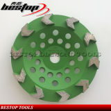 Double Row Diamond Grinding Cup Wheel for Concrete Polishing