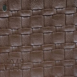 Competitive PVC PU Synthetic Microfiber Leather for Sofa (HS-QF12)