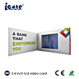 Mini 2.4 Inch LCD Screen Video Business Card for Business Products Promotional