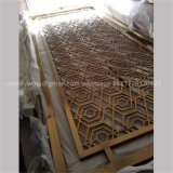 Mirror Finish Golden Color Stainless Steel Partition
