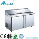 Stainless Steel Kitchen Salad Bar Refrigerated Salad Cabinet (SL15)