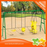 Mini Outdoor Playground Equipment Swings with Baby Safety Seat
