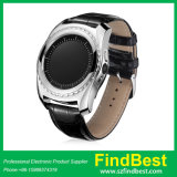 High Quality Tq912 Round Screen Smart Watch with Leather Strap