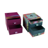 Hot Stamping Cardboard Paper Jewelry Gift Packaging Box with Drawer