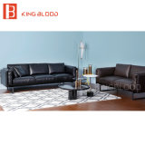 italian style black color top grain nappa genuine leather sofa couch for living room