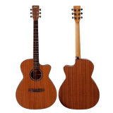 Aiersi Cheap Price Om Style Plywood Acoustic Guitar