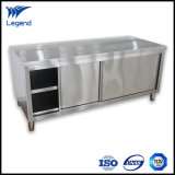 Stainless Steel Commercial Kitchen Cabinets with Thick Work Top