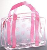 Promotional Sewing Clear Plastic PVC Hand Bag