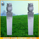 Stone Sculpture Night Owl Design Carvings Garden Decoration