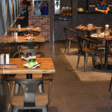 (SP-CS327) Vintage Industrial Metal Cafe Restaurant Table and Restaurant Chair