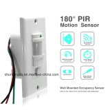 110V ~220V AC on off Auto Wall Mount Motion Sensor Switch Automatic PIR Infrared Sensor Light Switch with Light Control Sensor