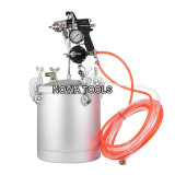 10 Liter 2-1/2 Gallon Paint Pressure Tank/Pot with Spray Gun and 3m 10' Air and Fluid Hose Assembly PT-10K