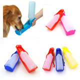 250ml Foldable Pet Dog Drinking Water Bottles Travel Handheld Puppy Dogs Squeeze Water Bottle Dispenser