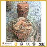 Customized Outdoor Landscaping Multicolor Red Granite for Garden Round Table, Bench