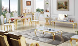 Living Room Furniture Cheap Event Wedding Table Hotel Stainless Steel Banquet Chair Table Set