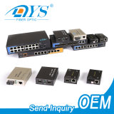 Ethernet 10/100m/1000m Fiber Optic 10g 20km SFP Port RJ45 Fiber Optical Media Converter with Sc/LC/St Connector