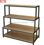 Fashion Clothing Shops T Shirt Solid Wood Display Stands