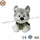 Lovely High Quality Soft Furry Plush Fabric Husky Dog Baby Toys