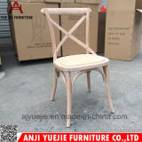 Brushing Color Beech Wood Cross Back Chair Yj201