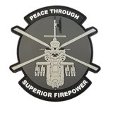 Amazon Manufacturer Cheap Custom Special Air Forces Group PVC Patch with Hook