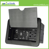 Hidden Flip-Open Cover Desktop Socket/Pop up Multi Plug for Tabletop