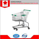 American Style Shopping Trolley Metal Shopping Cart for Hypermarket (OW-M60L)