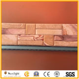 Pink/Yellow/White Quartzite Ledgestone Stacked Wall Stone Veneer Culture Stone