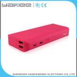 Rose Pink Portable Mobile Two Output USB Power Bank