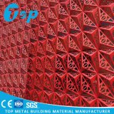 Laser Cutting Perforated Facade Wall Decoration with Carved Aluminum Cladding Panel