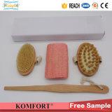 Detachable Handle Beauty SPA Bath Gift Set Exfoliating Dry Body Skin Boar Bristle Brush