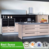 2015 Hot Sales Hand Free Yellow Lacquer Kitchens Cabinet Wihtout Handles