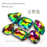 Oval Boat Rainbow Color Crystal Sew on Setting Rhinestone Glass Beads (SW-Boat 9*18 rainbow color)