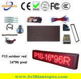 Programableoutdoor P10 Red LED Display Sign (160*960mm)