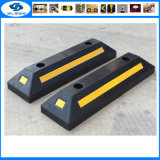 Black and Yellow Reflective Rubber Parking Wheel Stops