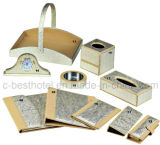fashion Hotel Bathroom Accessory Set Guest Room Durable Leather Items