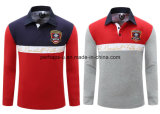 Wholesale High Quality Embroidery Men ′s Long Sleeve Polo Shirt