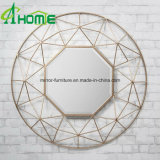 Favorable Price New Design Decorative Iron Golden Round Wall Mirror