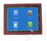 15 Inch Narrow Wooden Digital Photo Frame