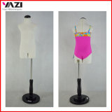 Cute Fabric Covered Child Torso Mannnequin for Swimwear Display