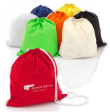 Custom Canvas Cotton Sling Shoe Bags 100% Natural Cotton Drawstring Backpack