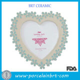Flower Borders Heart-Shaped Love Photo Frame
